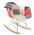 Fauteuil à bascule RAR patchwork inspiration Eames