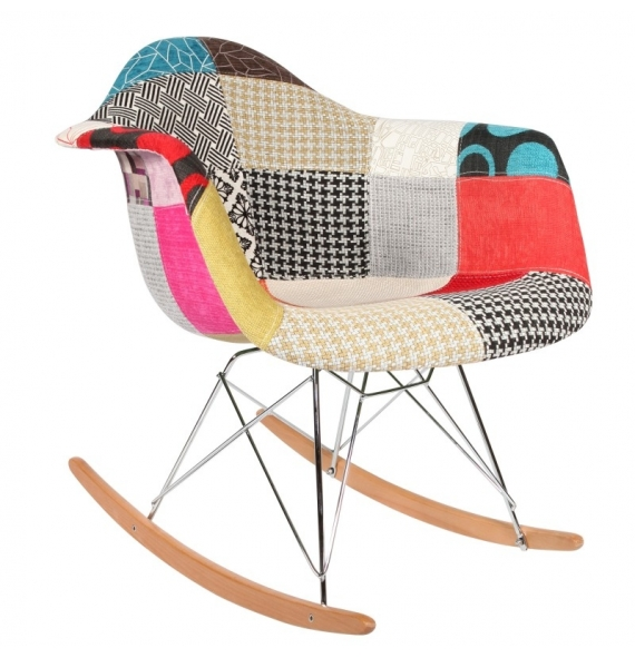 Chaise bascule rar patchwork style eames secret design for Chaise a bascule style eames