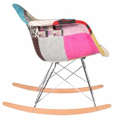 Chaise bascule rar patchwork style eames secret design - Fauteuil bascule scandinave ...