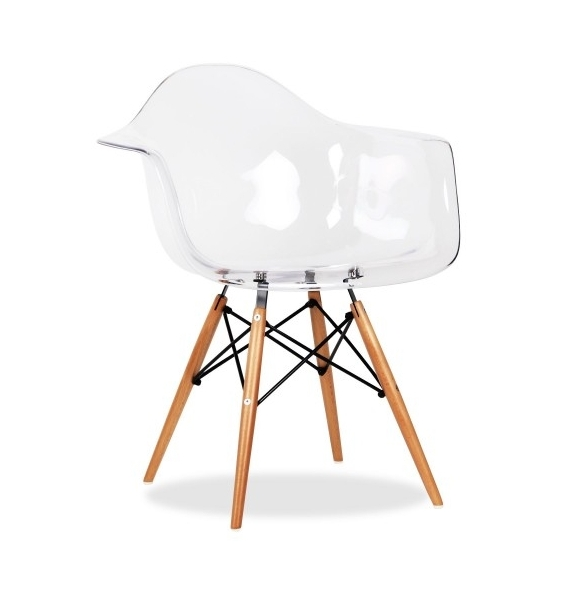Chaise daw transparente style eames secret design for Chaise bascule transparente
