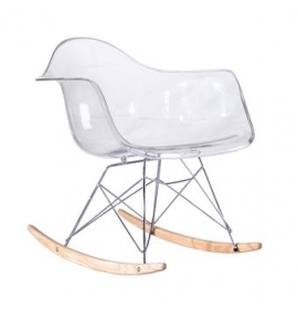 Chaise bascule rar style eames secret design for Chaise bascule transparente