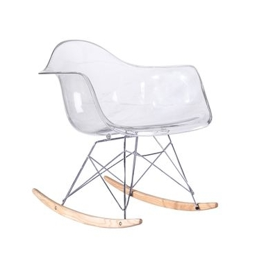 Chaise À Bacule Rar Transparente Style Eames - Secret Design