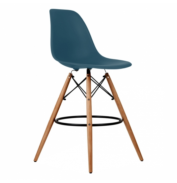 Tabouret bar dsw style eames secret design for Chaise eames bleu canard