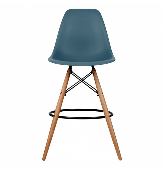 Chaise bleu canard simple chaise design velours bleu for Chaise eames bleu canard