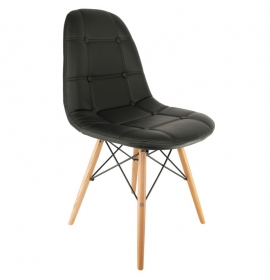 Chaise dsw r plique eames assise en tissu patchwork for Chaise eames cuir