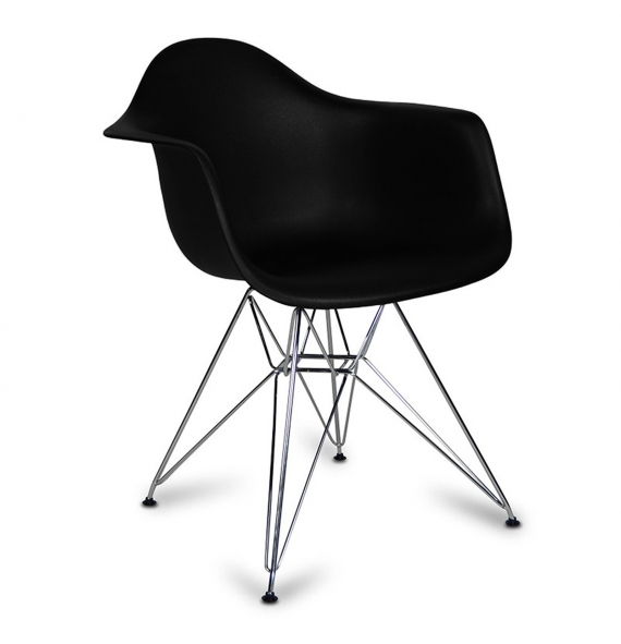 chaise dar avec accoudoirs style eames en vente chez secret design. Black Bedroom Furniture Sets. Home Design Ideas