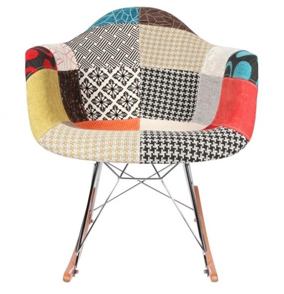 Fauteuil Bascule RAR Patchwork Inspiration Eames