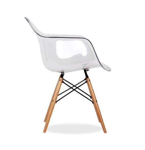 Chaise DAW Transparente Style Eames