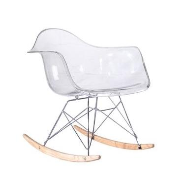 Chaise à bacule RAR transparente Eames