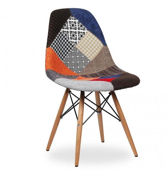 Chaise DSW Rplique Eames Assise En Tissu Patchwork