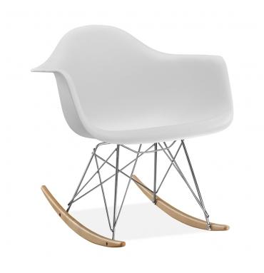 Fauteuil à bascule RAR style Eames Blanc