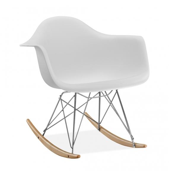 Attrayant Fauteuil à Bascule RAR Style Eames Blanc
