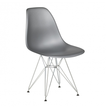 Chaise DSR style Eames SILVER